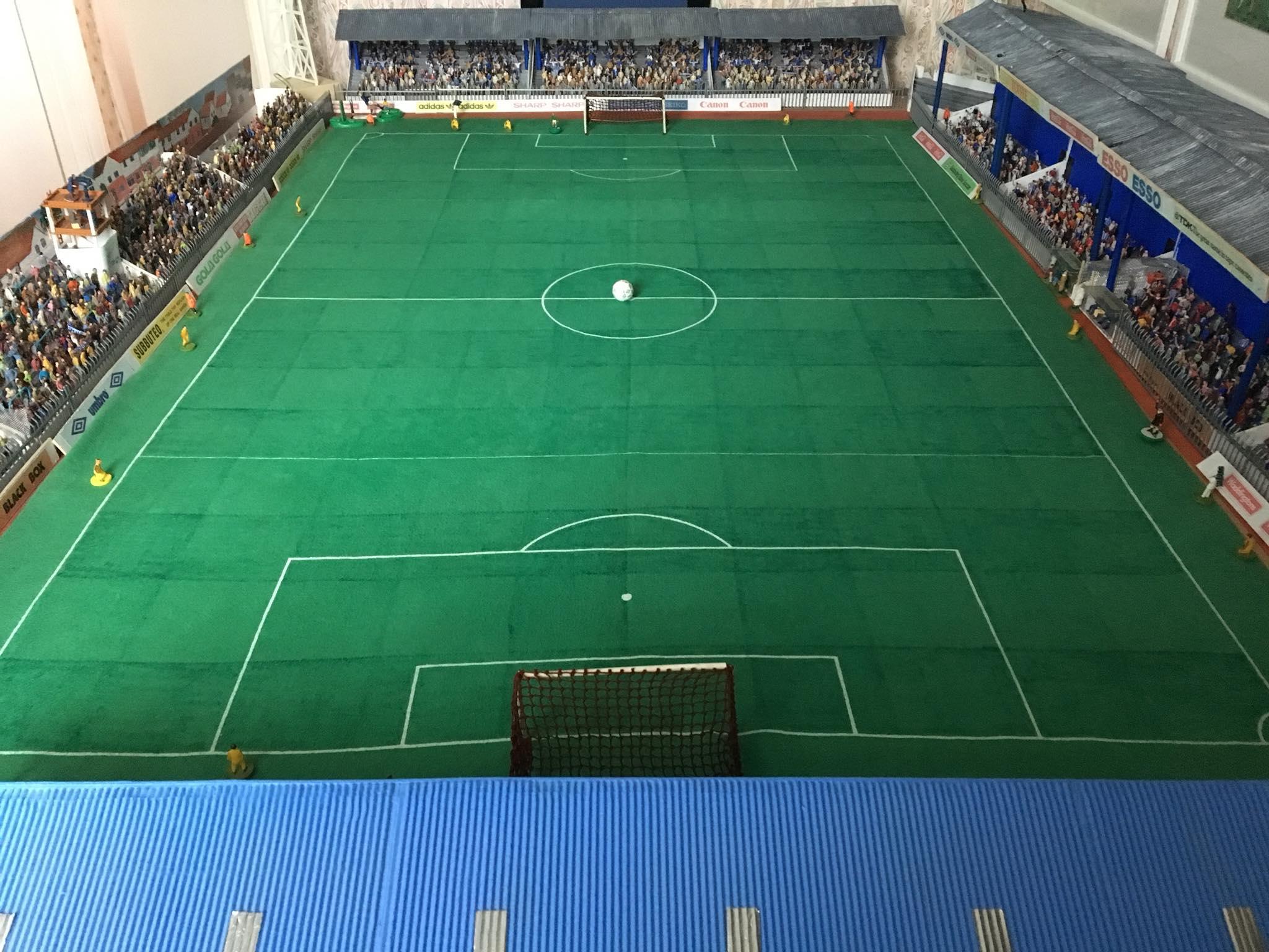 Subbuteo Stadiums: Fan recreates Brighton's Goldstone Ground in Subbuteo
