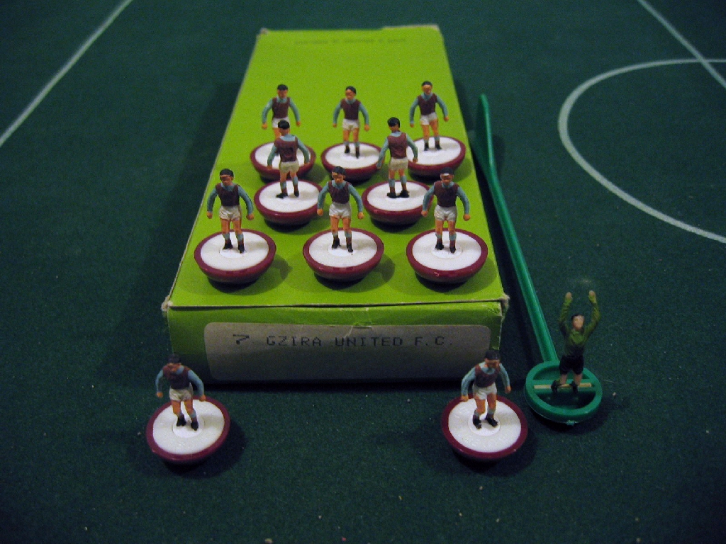 We told Maltese table-toppers Gzira United about their very own Subbuteo team