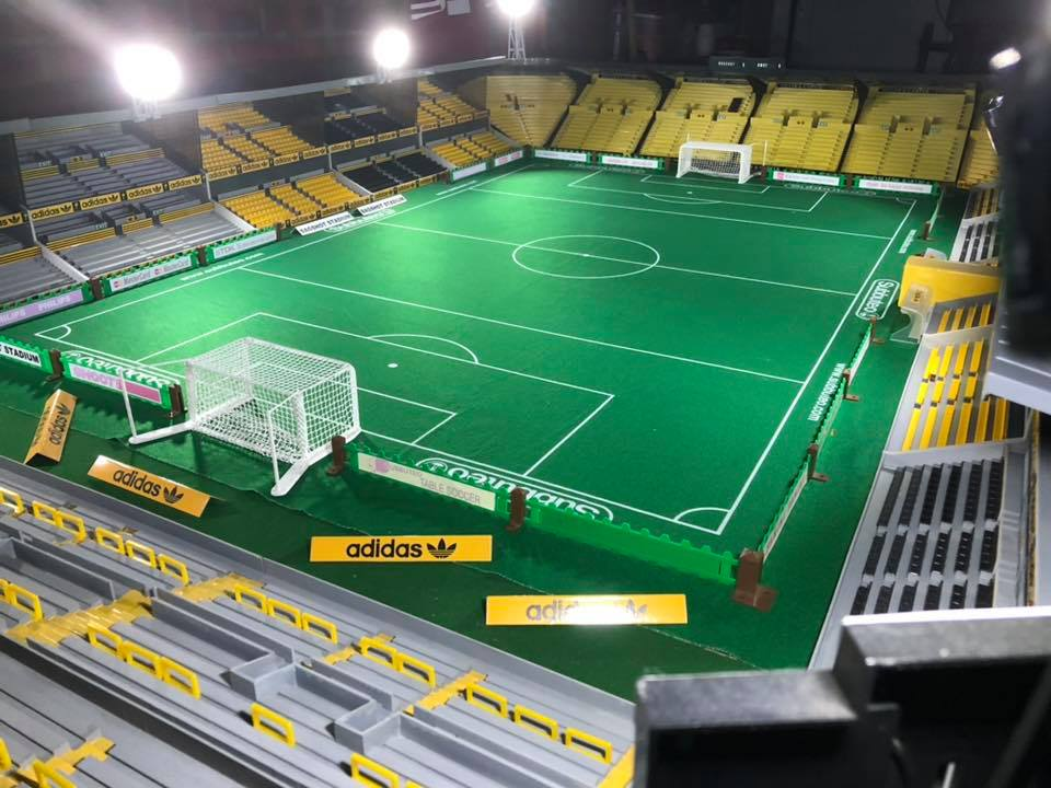 This Dortmund-inspired Subbuteo stadium is incredibly detailed
