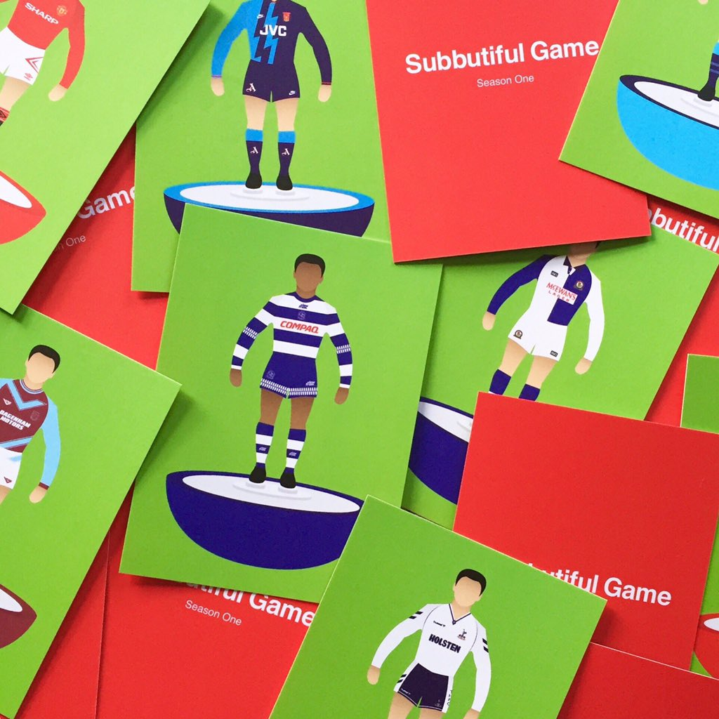 You can now buy Subbuteo postcards and they look fantastic