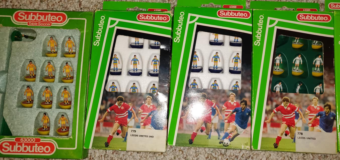 A massive Subbuteo set with over 100 teams is up for sale