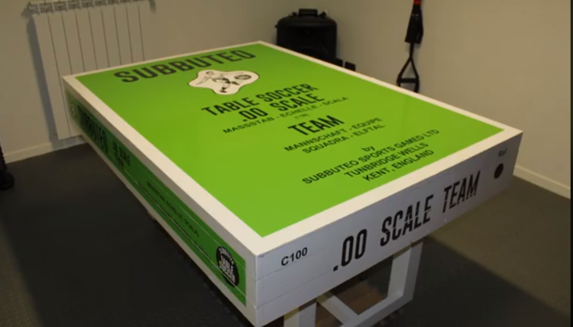 This Subbuteo Table Is Designed To Look Like A Team Box Set