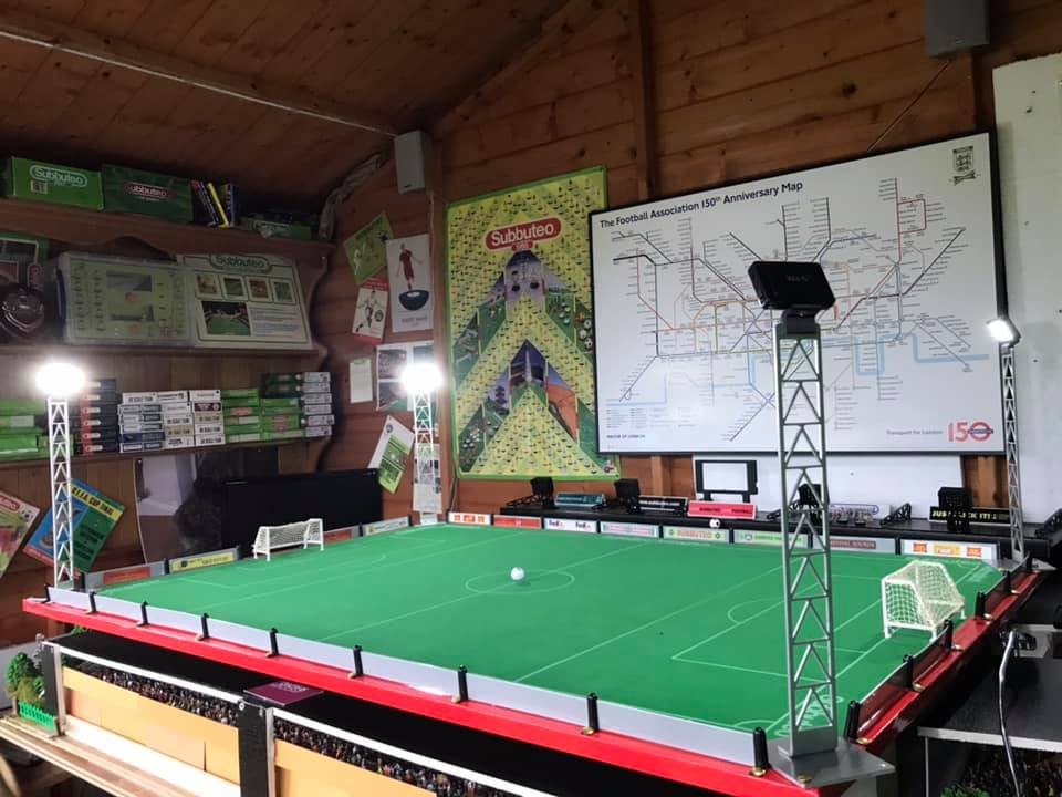 This man's shed is Subbuteo heaven