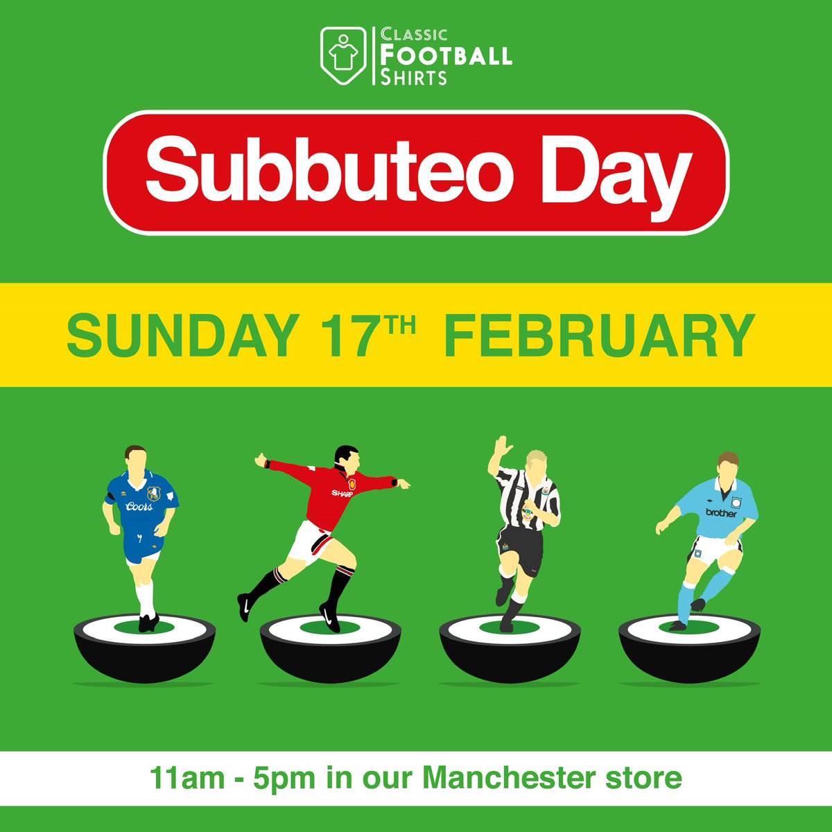 You can now play Subbuteo surrounded by thousands of retro football kits