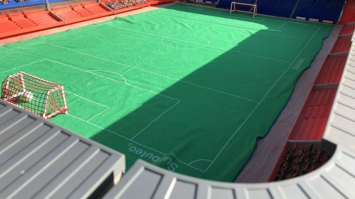 A full Subbuteo stadium is up for sale at a bargain price