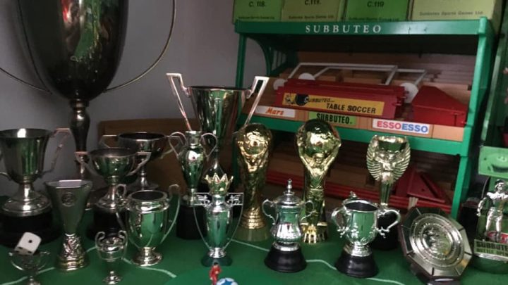 Subbuteo collector has every single trophy ever made – including the League Cup