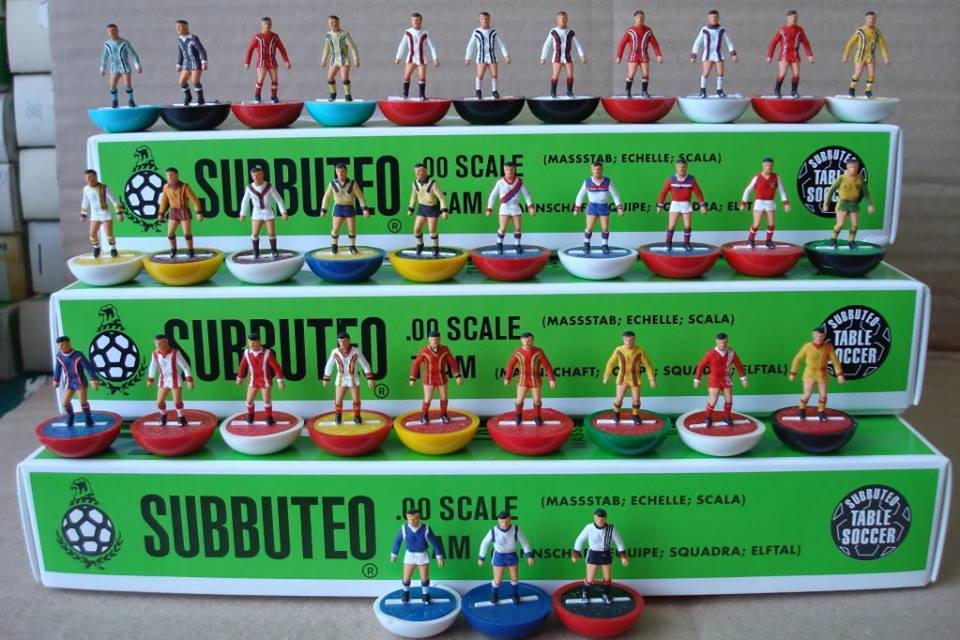 Admiral's famous kits created in stunning Subbuteo collection