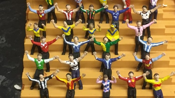 The sweet story behind this wall of Subbuteo kits