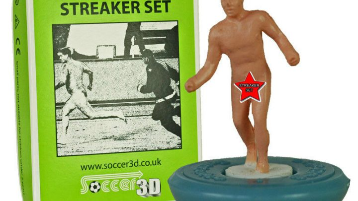 Subbuteo streakers are a real thing and they are anatomically correct
