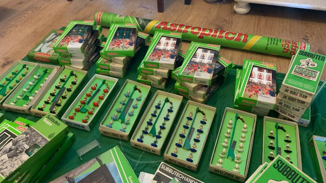A £1,500 Subbuteo job lot has been listed on eBay