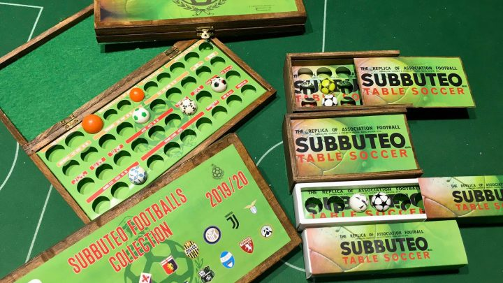 Subbuteo shop launches stunning ball display cases