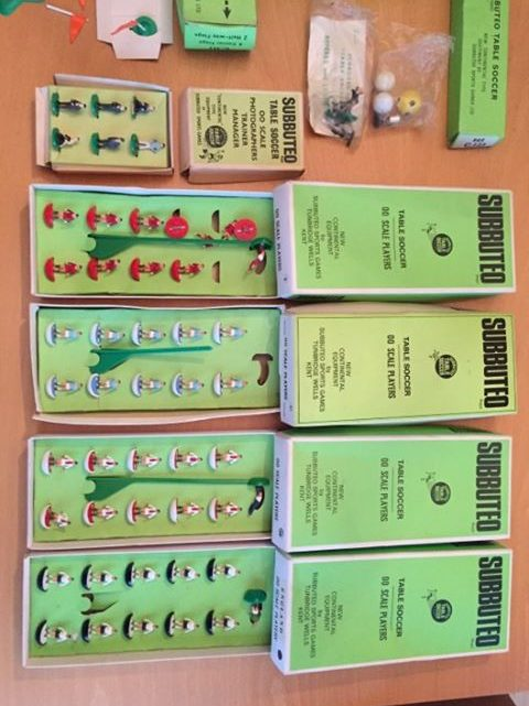 Subbuteo job lot with Ajax and Man City for sale