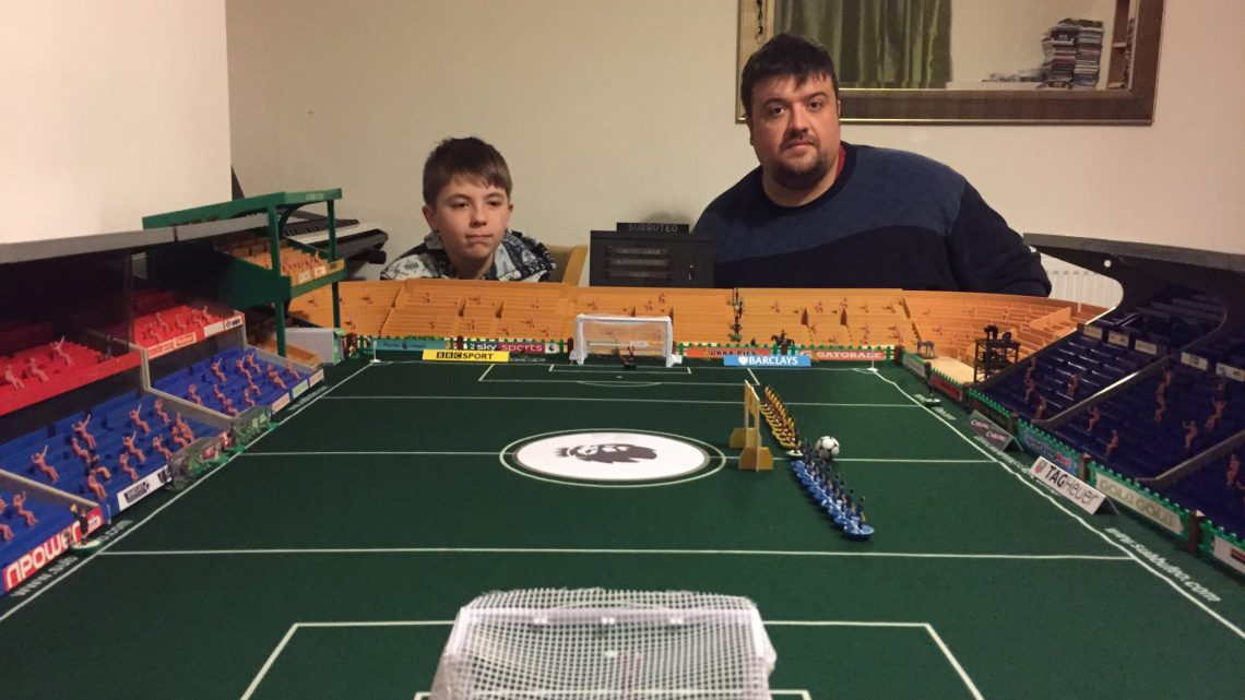 The viral Subbuteo stadium that completed a childhood dream