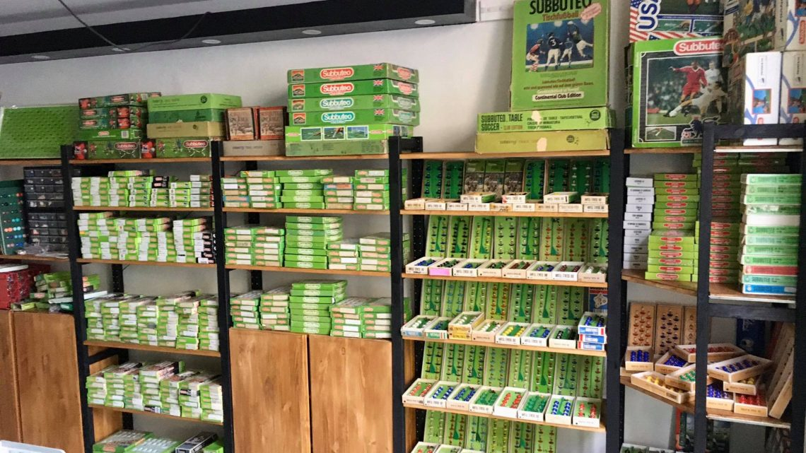 The world's only Subbuteo shop opens its doors and it looks amazing