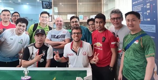 Subbuteo players defy Coronavirus in Singapore tournament