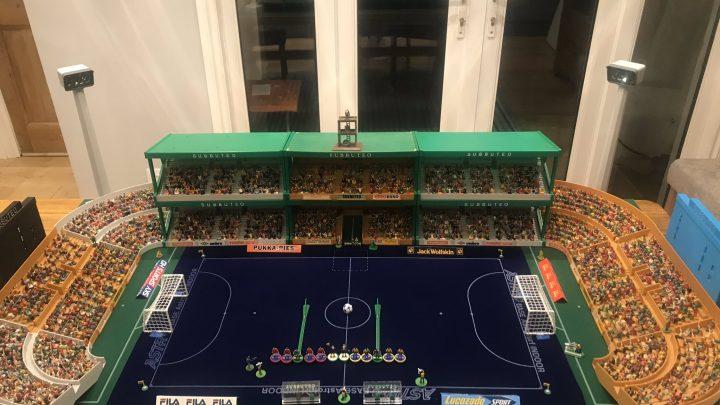 This Subbuteo Futsal stadium is the perfect space-saver